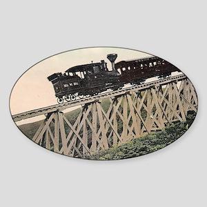 Cog Railway, Mount Washington, 1910 Sticker (Oval)