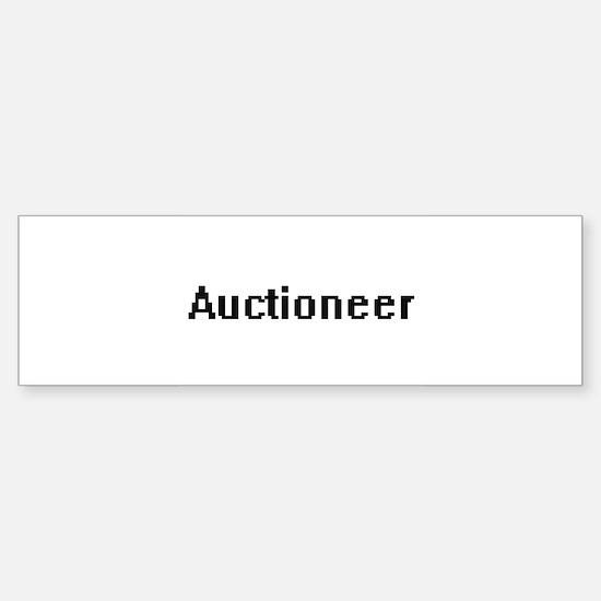 Auctioneer Retro Digital Job Design Bumper Bumper Bumper Sticker