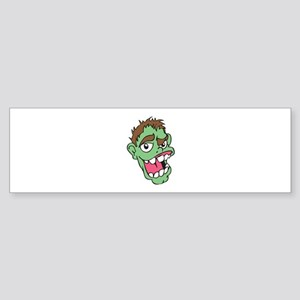 SMALL ZOMBIE HEAD Bumper Sticker