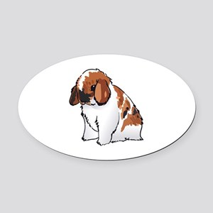HOLLAND LOP EAR RABBIT Oval Car Magnet