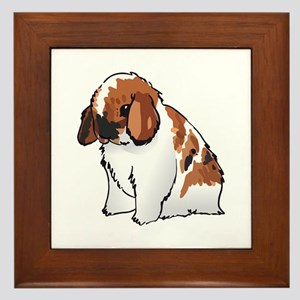 HOLLAND LOP EAR RABBIT Framed Tile