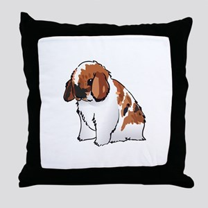 HOLLAND LOP EAR RABBIT Throw Pillow