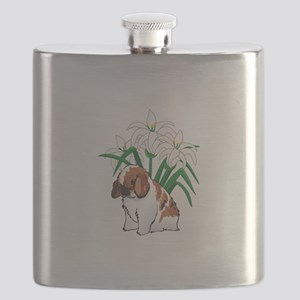 HOLLAND LOP AND LILIES Flask
