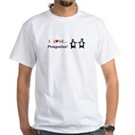 I Love Penguins White T-Shirt