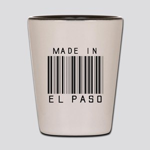 El Paso barcode Shot Glass