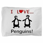 I Love Penguins Pillow Sham
