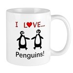 I Love Penguins Mug