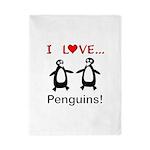 I Love Penguins Twin Duvet