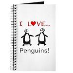 I Love Penguins Journal