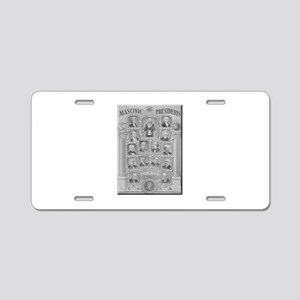 Masonic Presidents Aluminum License Plate