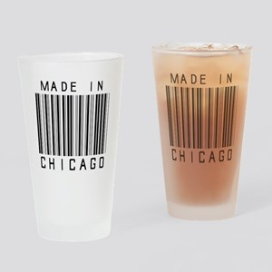Chicago barcode Drinking Glass
