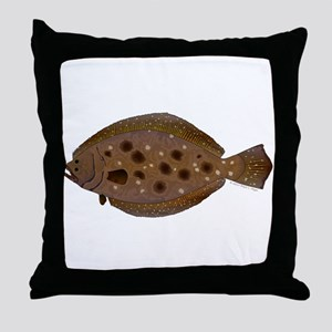 Summer Flounder Throw Pillow