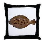 Summer Flounder Throw Pillow