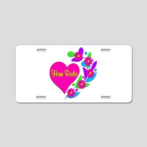 Ham Radio Heart Aluminum License Plate