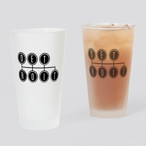 Detroit Shift Drinking Glass