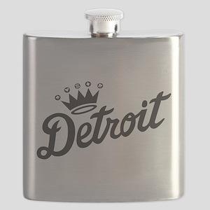 Detroit Crown Flask