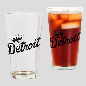 Detroit Crown Drinking Glass