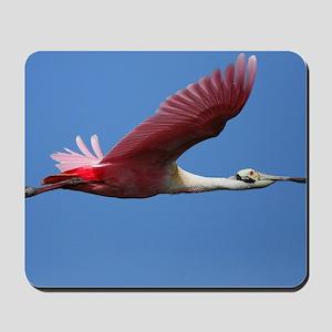 Spoonbill in Flight Mousepad