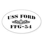 USS FORD Sticker (Oval)