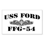 USS FORD Sticker (Rectangle)