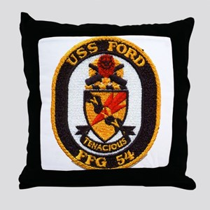 USS FORD Throw Pillow