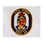 USS FORD Throw Blanket