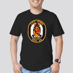 USS FORD Men's Fitted T-Shirt (dark)