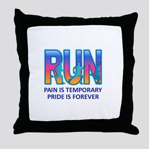 RUN PRIDE IS FOREVER Throw Pillow