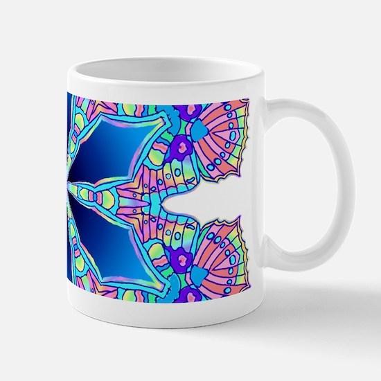 BUTTERFLY BLUE MANDALA Mug