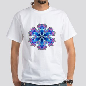 BUTTERFLY BLUE MANDALA White T-Shirt
