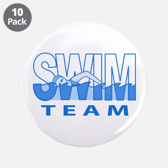 "SWIM TEAM 3.5"" Button (10 pack)"