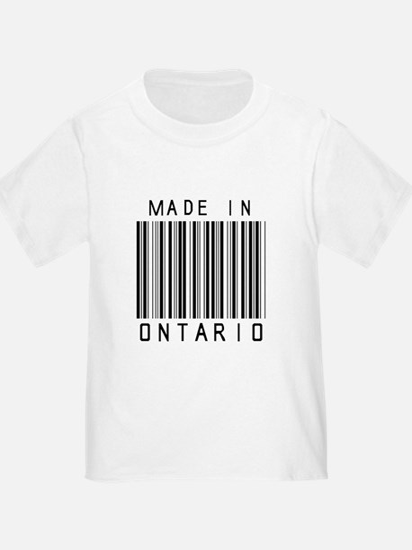 Ontario Barcode T-Shirt
