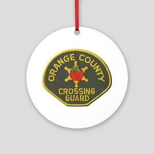 Orange County Crossing Guard Ornament (Round)