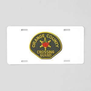 Orange County Crossing Guard Aluminum License Plat