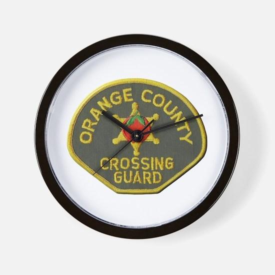 Orange County Crossing Guard Wall Clock