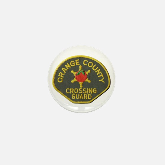 Orange County Crossing Guard Mini Button
