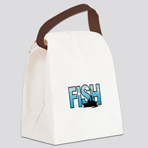 LARGE FISH Canvas Lunch Bag