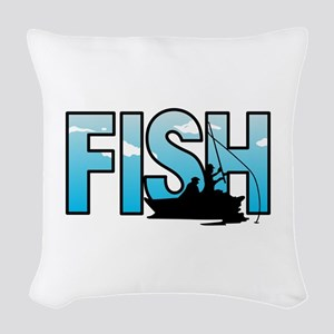 LARGE FISH Woven Throw Pillow