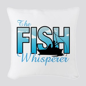 THE FISH WHISPERER Woven Throw Pillow
