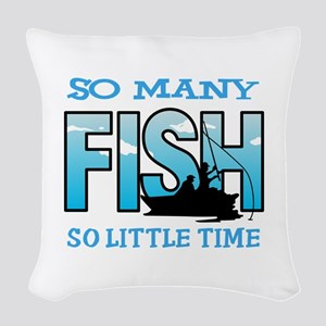 SO MANY FISH Woven Throw Pillow