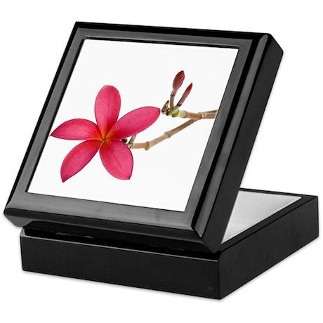 Red Frangipani flower Keepsake Box