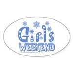 Snow Winter Getaway Sticker (Oval 10 pk)