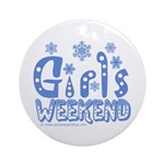 Snow Winter Getaway Ornament (Round)