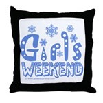 Snow Winter Getaway Throw Pillow