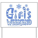 Snow Winter Getaway Yard Sign