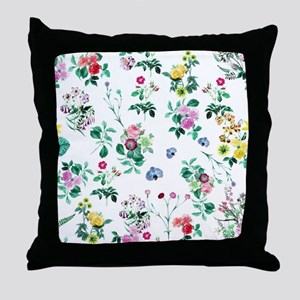 Delicate Floral Pattern Throw Pillow