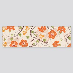 Seamless Flower Pattern Bumper Sticker