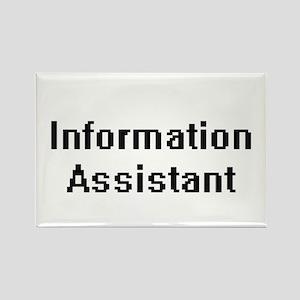 Information Assistant Retro Digital Job De Magnets