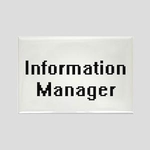 Information Manager Retro Digital Job Desi Magnets