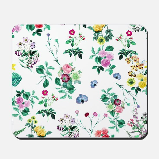 Delicate Floral Pattern Mousepad